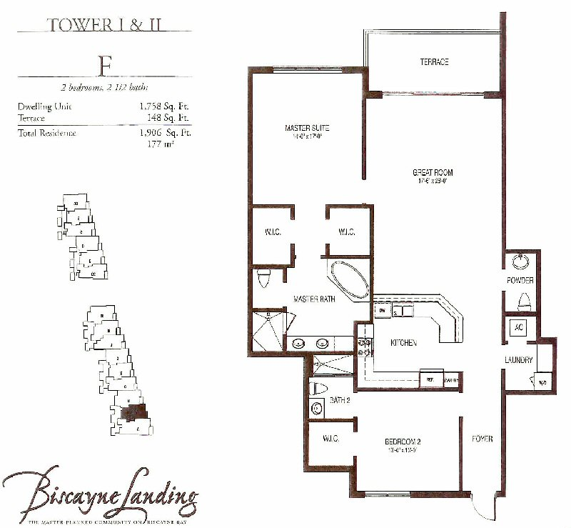 Biscayne landing miami floor plans for Floor plans 900 biscayne